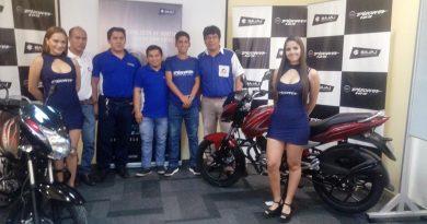 Pamela Talledo anuncia, Bajaj lanza al mercado nacional un nuevo modelo de moto, la Discover 125 ST con Euro 3