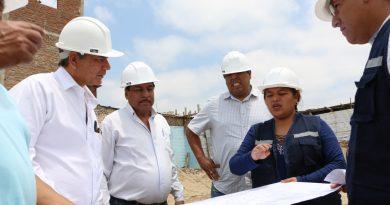 Gobernador regional verifica trabajos en colegio de Sullana por más de 5 millones