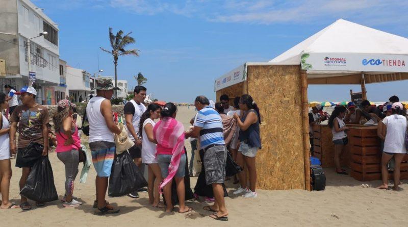 ECOTIENDA: Cambiarán productos por desperdicios de las playas
