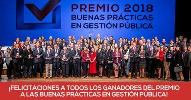 GORE Piura recibe premio Buenas Prácticas 2018 en categorías Cooperación Público-Privada y Gestión Interna